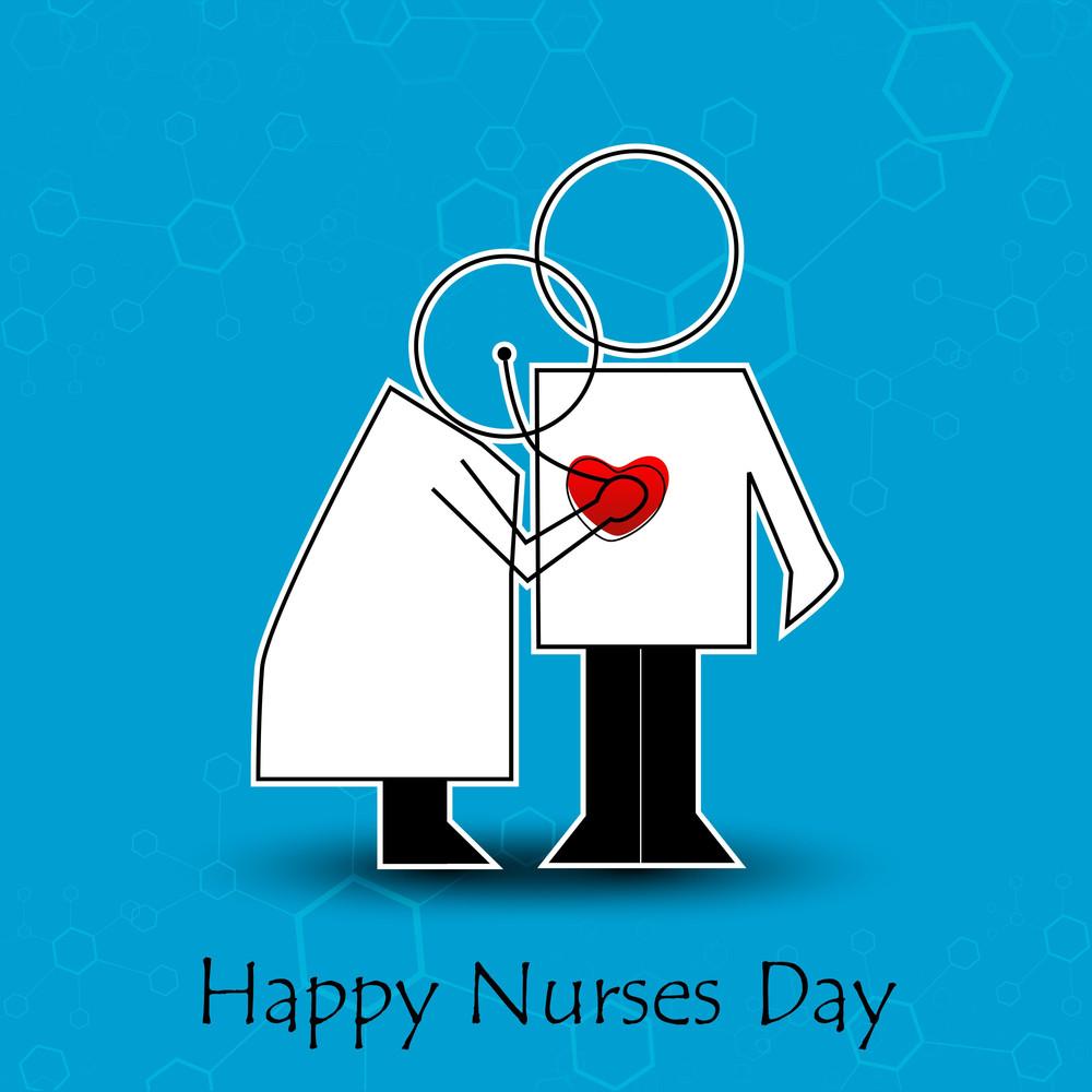 International Nurse Day Concept With Illustration Of A Nurse