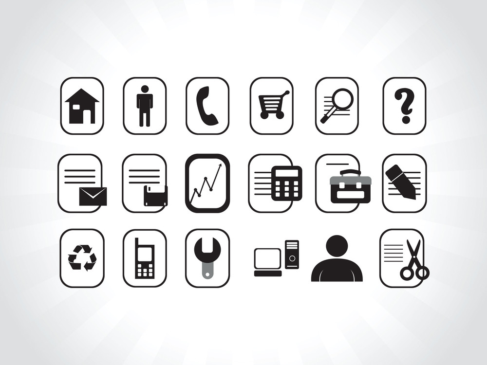 Internet Icons In Black
