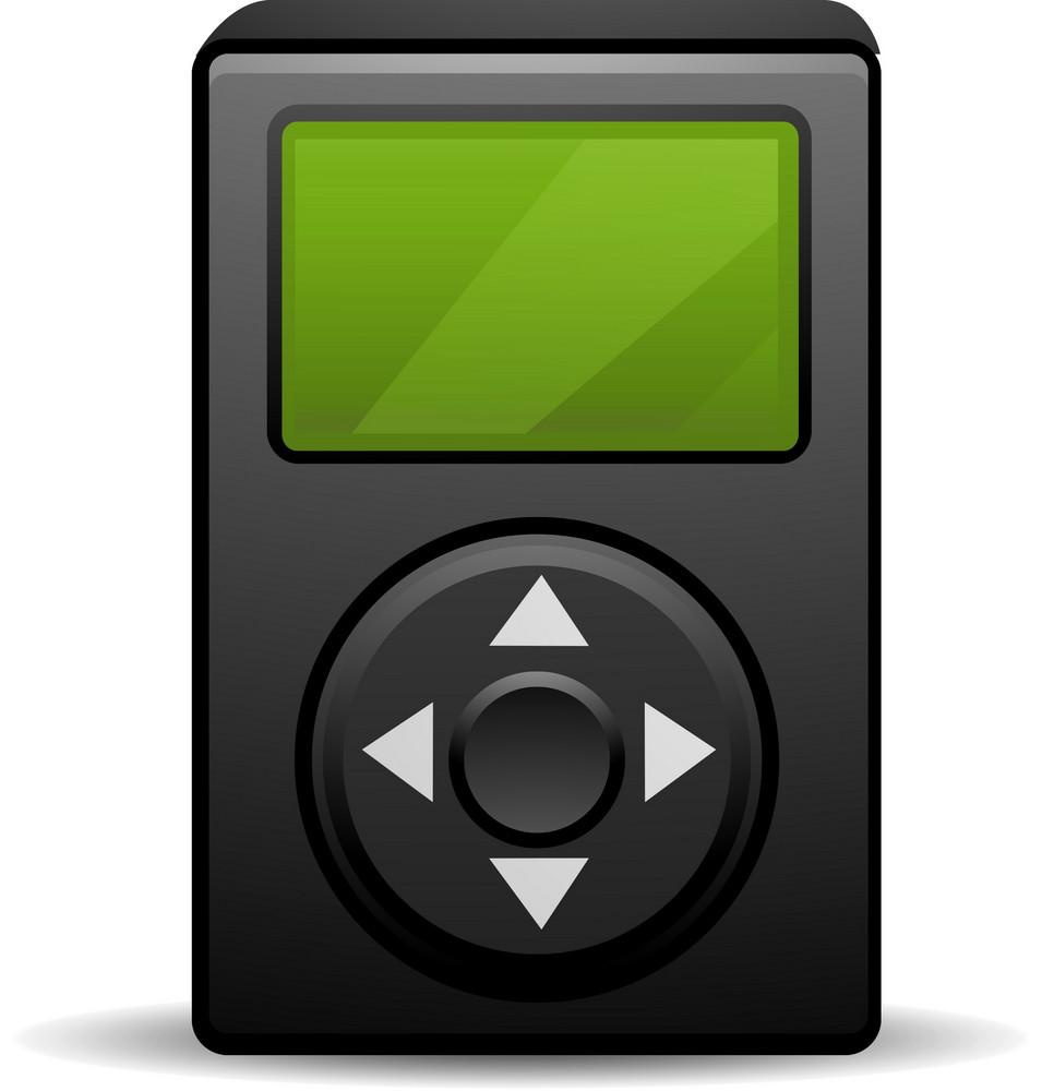 Ipod Black Lite Media Icon