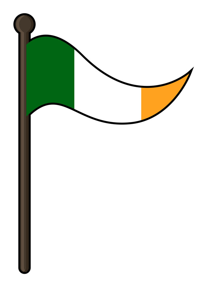 Irish Flag Vector Design