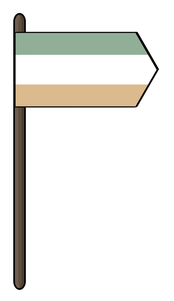 Irish Pointer Flag Vector
