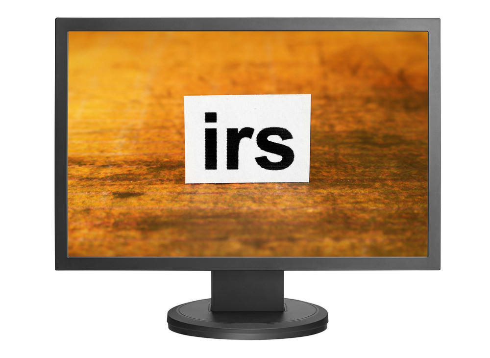 Irs Tag On Monitor Screen