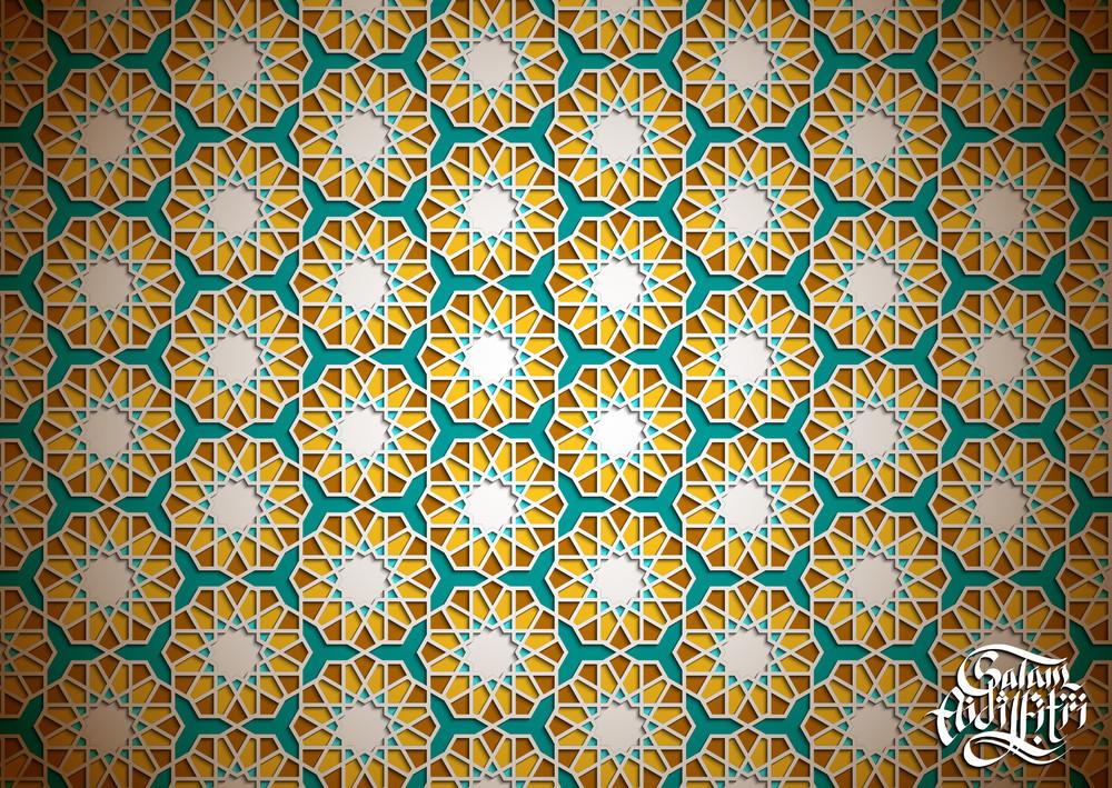 Islamic Wallpaper Design. Translation: Aidilfitri Greetings
