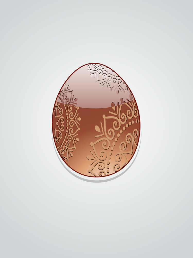 Isolated Chocolate Easter Egg
