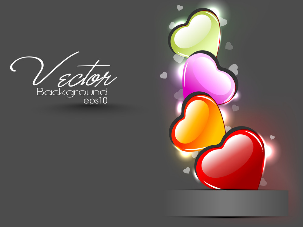 Isolated Creative Heart Shape Element With Florel Having On Beautiful Background. Vector Illustration. Eps 10