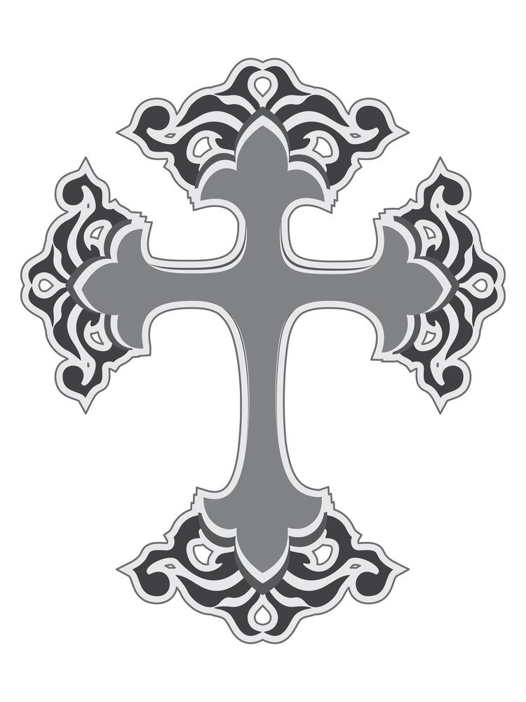 Isolated Cross On White Background
