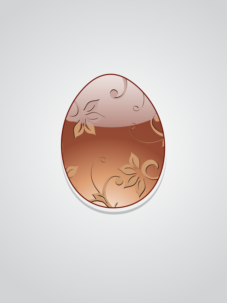 Isolated Decorated Egg With Background