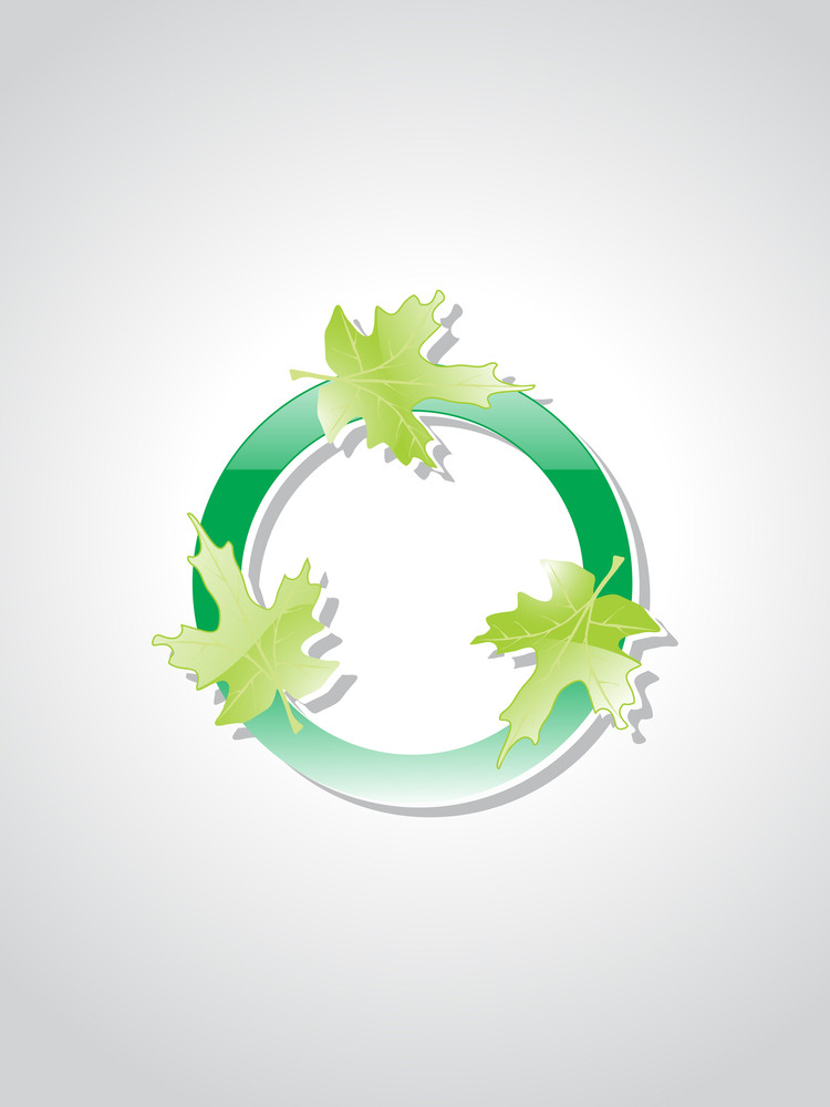 Isolated Ecological Button With Background