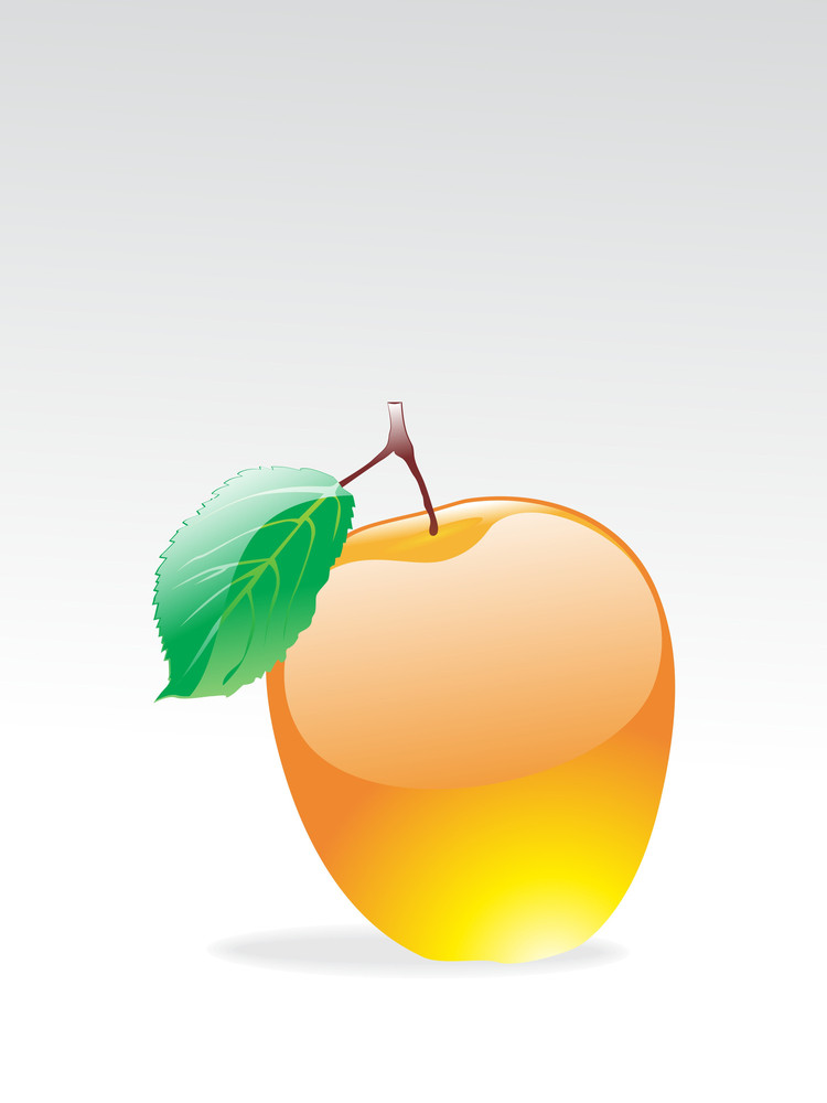 Isolated Glossy Apple With Background