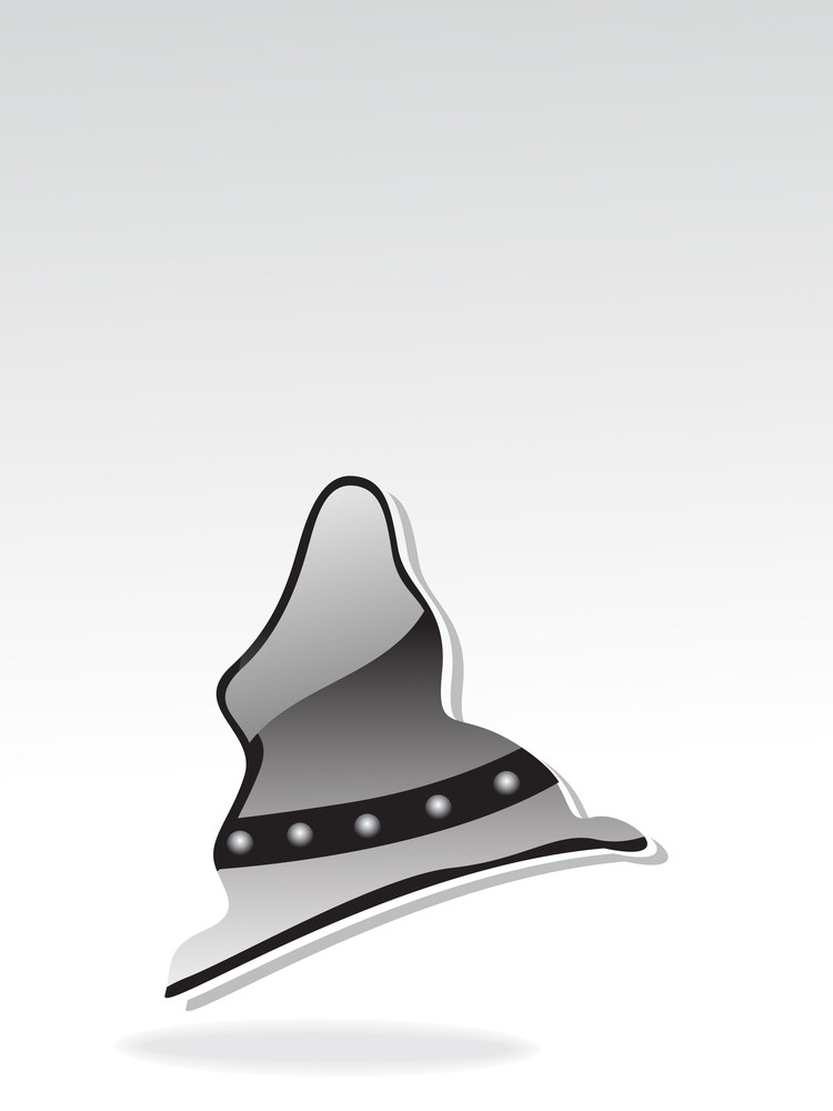 Isolated Glossy Halloween Hat Illustration