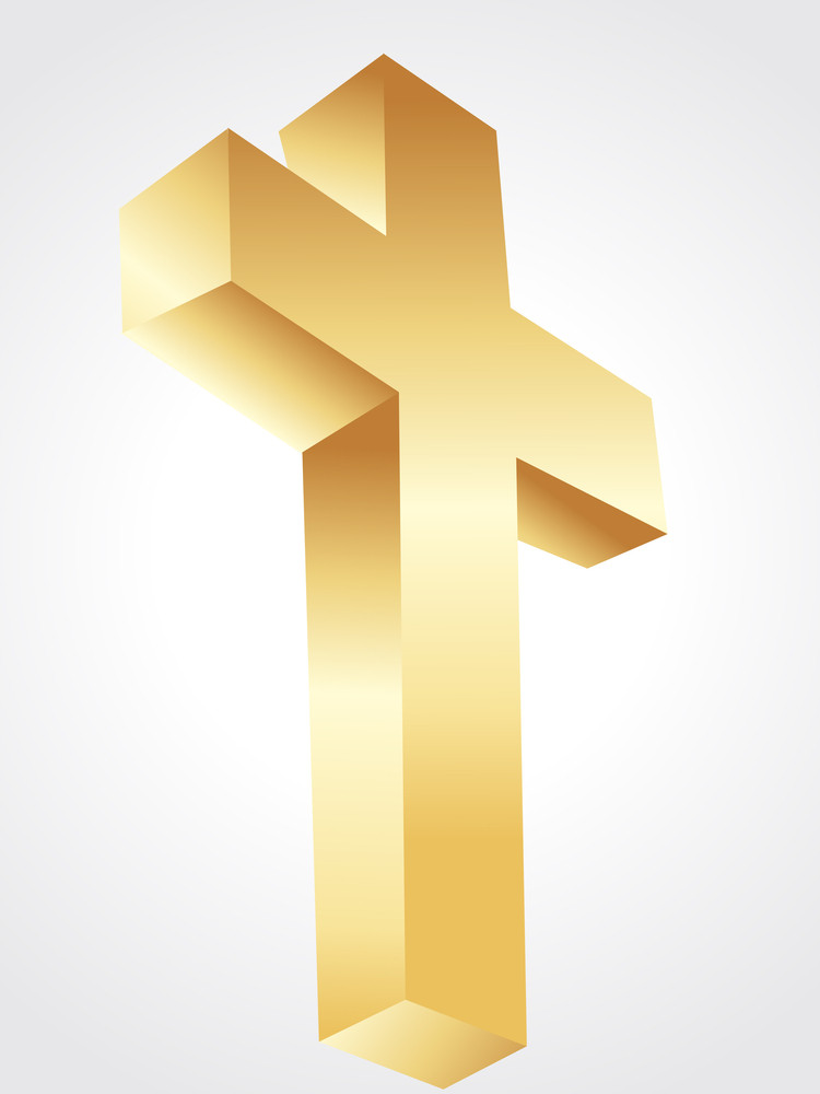 Isolated Golden Cross