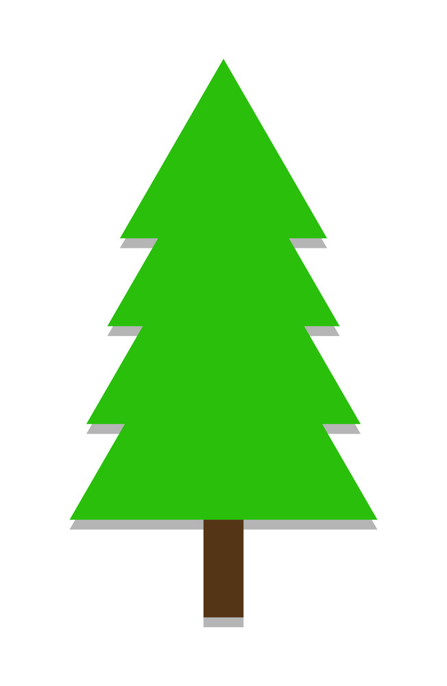 Isolated Green Christmas Tree