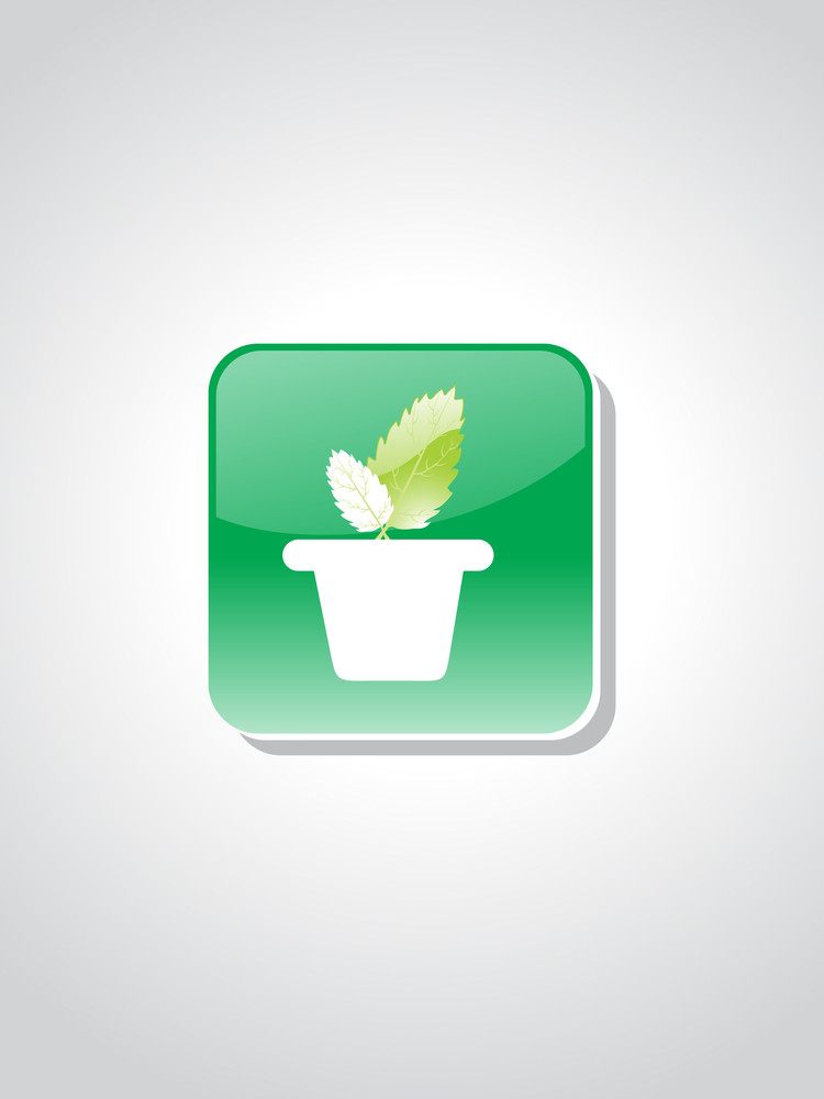 Isolated Green Ecology Icon