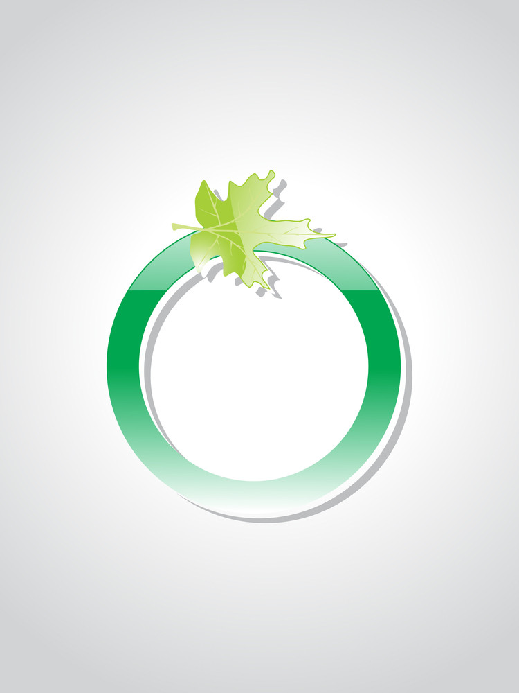 Isolated Green Ecology Icons With Background