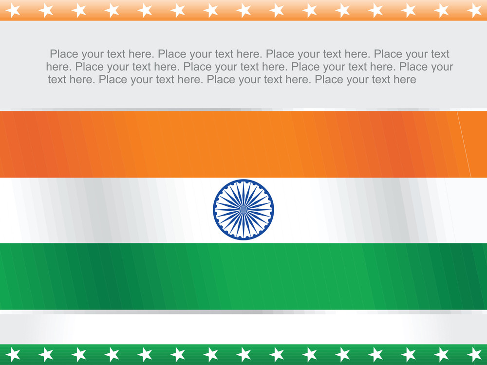 Isolated Indian Flag Vector Wallpaper