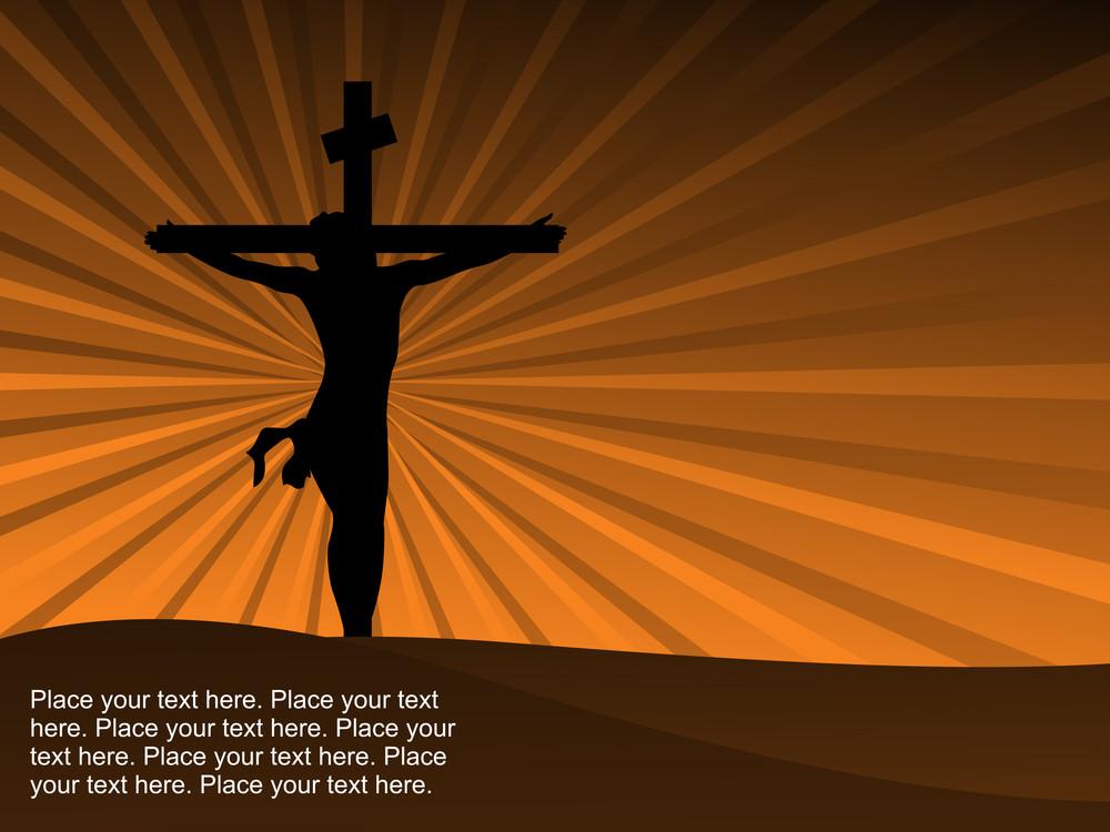 Isolated Jesus On Cross