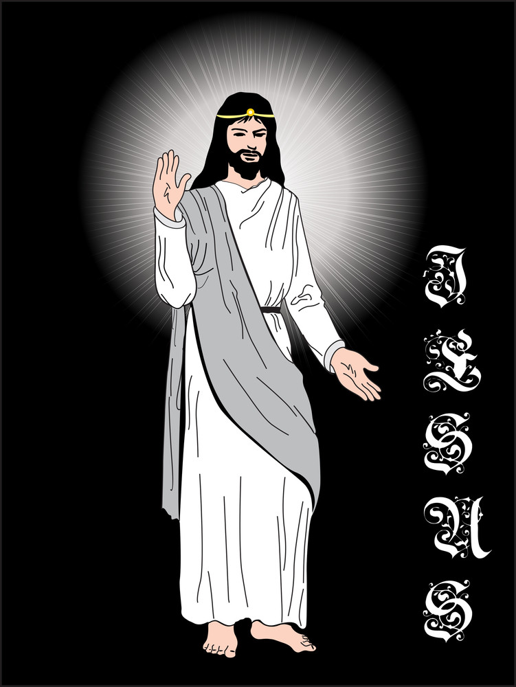 Isolated Jesus With Background