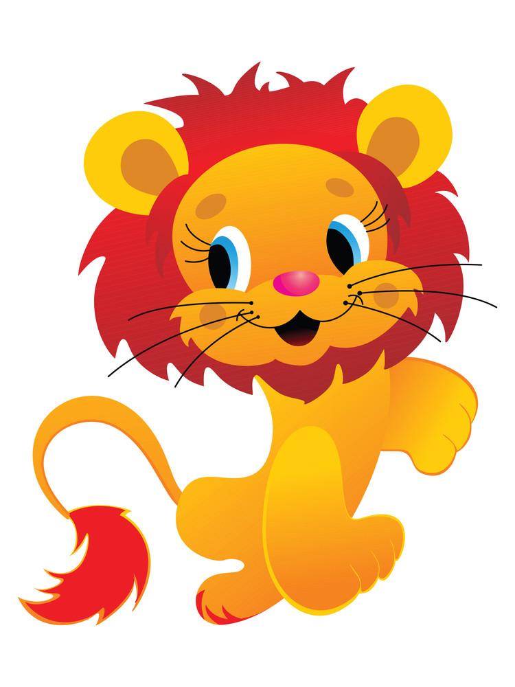 Isolated Lion Image Illustration