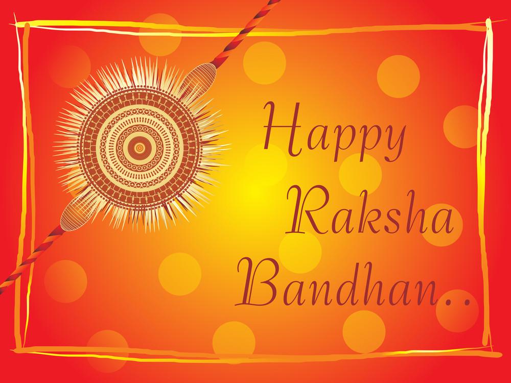 Isolated Rakhi On Background