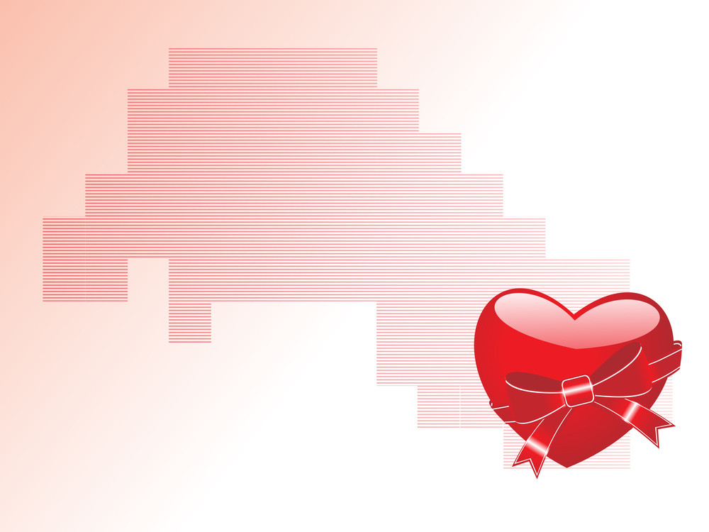 Isolated Romantic Heart With Background