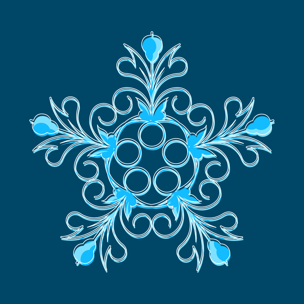 Isolated Snowflake