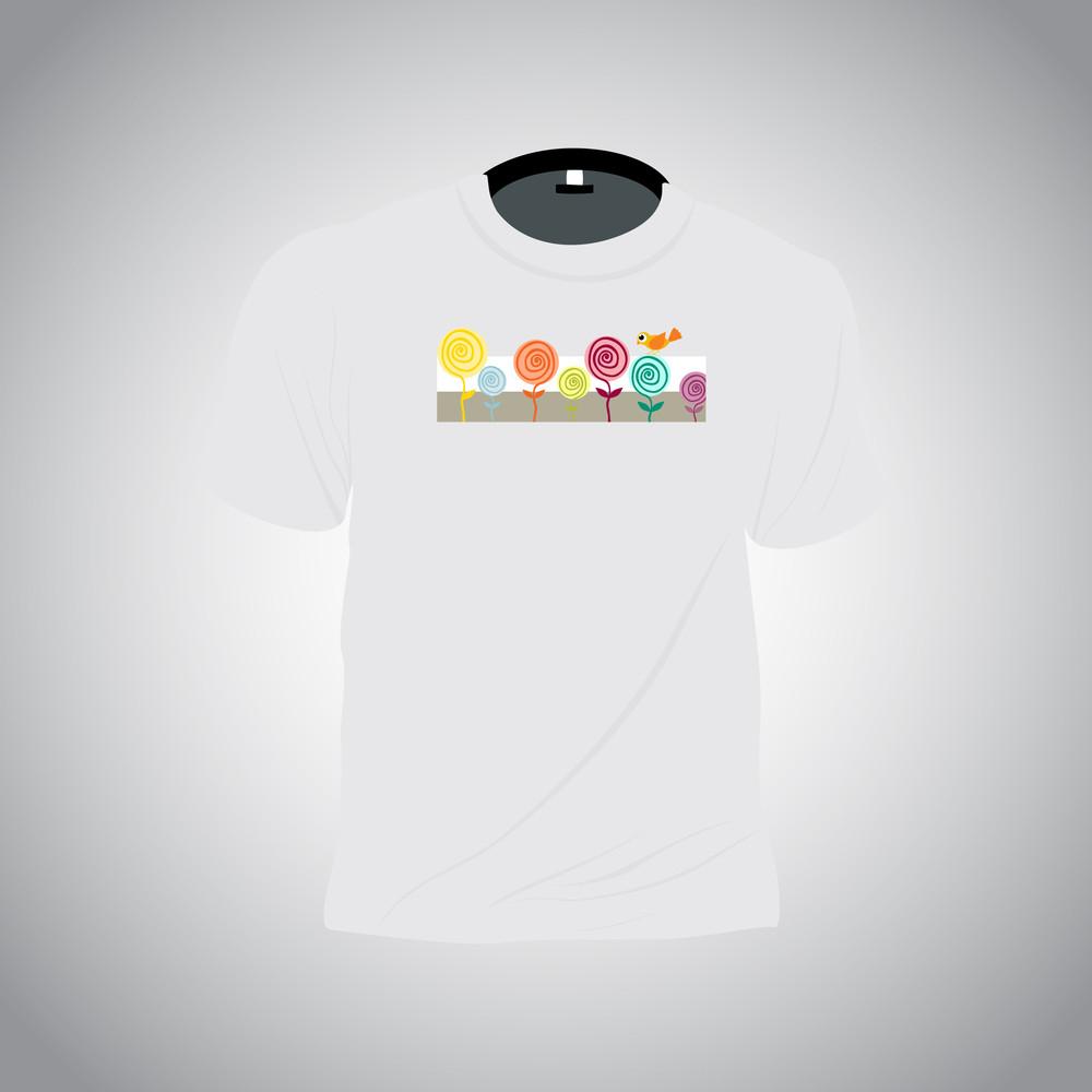 Isolated Tshirt On Background