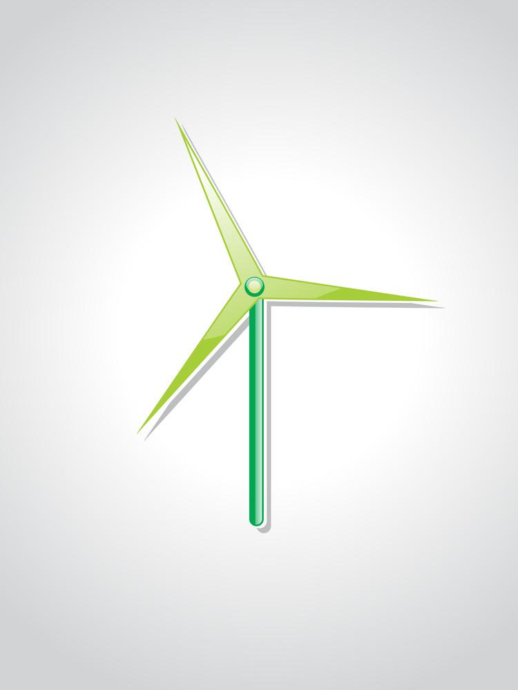 Isolated Wind Turbines Illustration