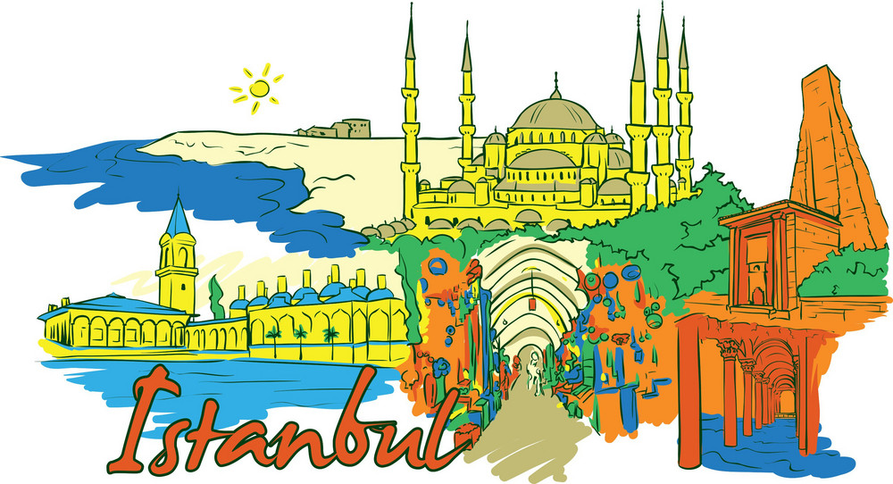 Istanbul Vector Doodle