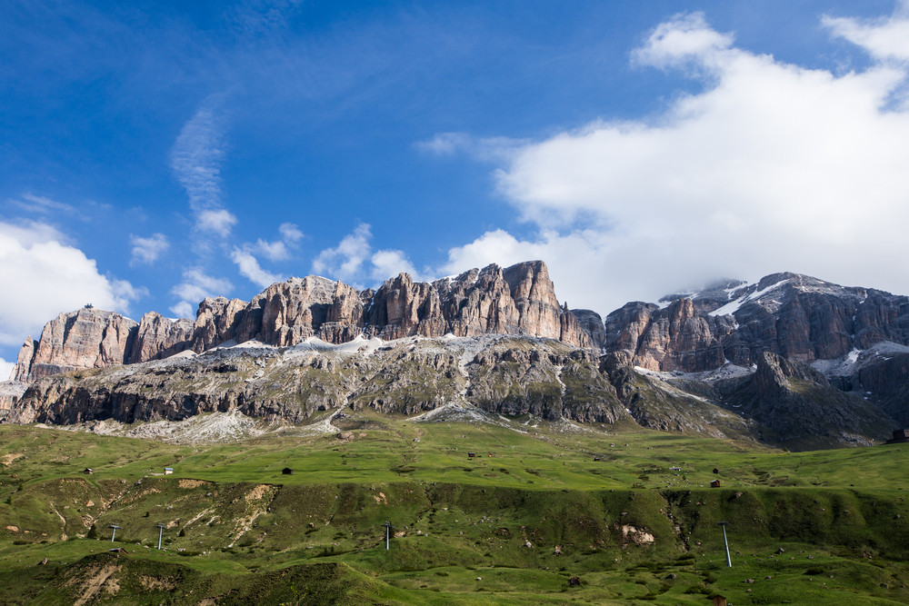 Italy beauty, Dolomites, mountains above Cortina D Ampezzo