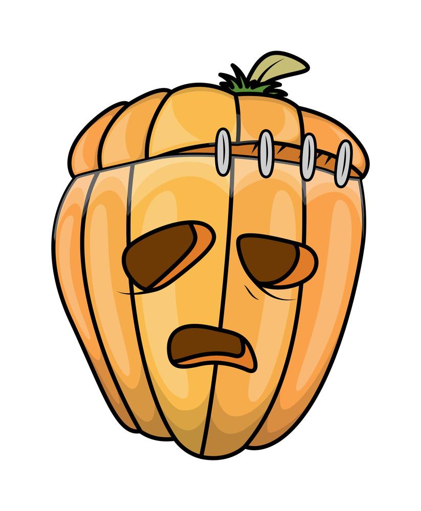 Jack O' Lantern Cartoon - Halloween Vector Illustration