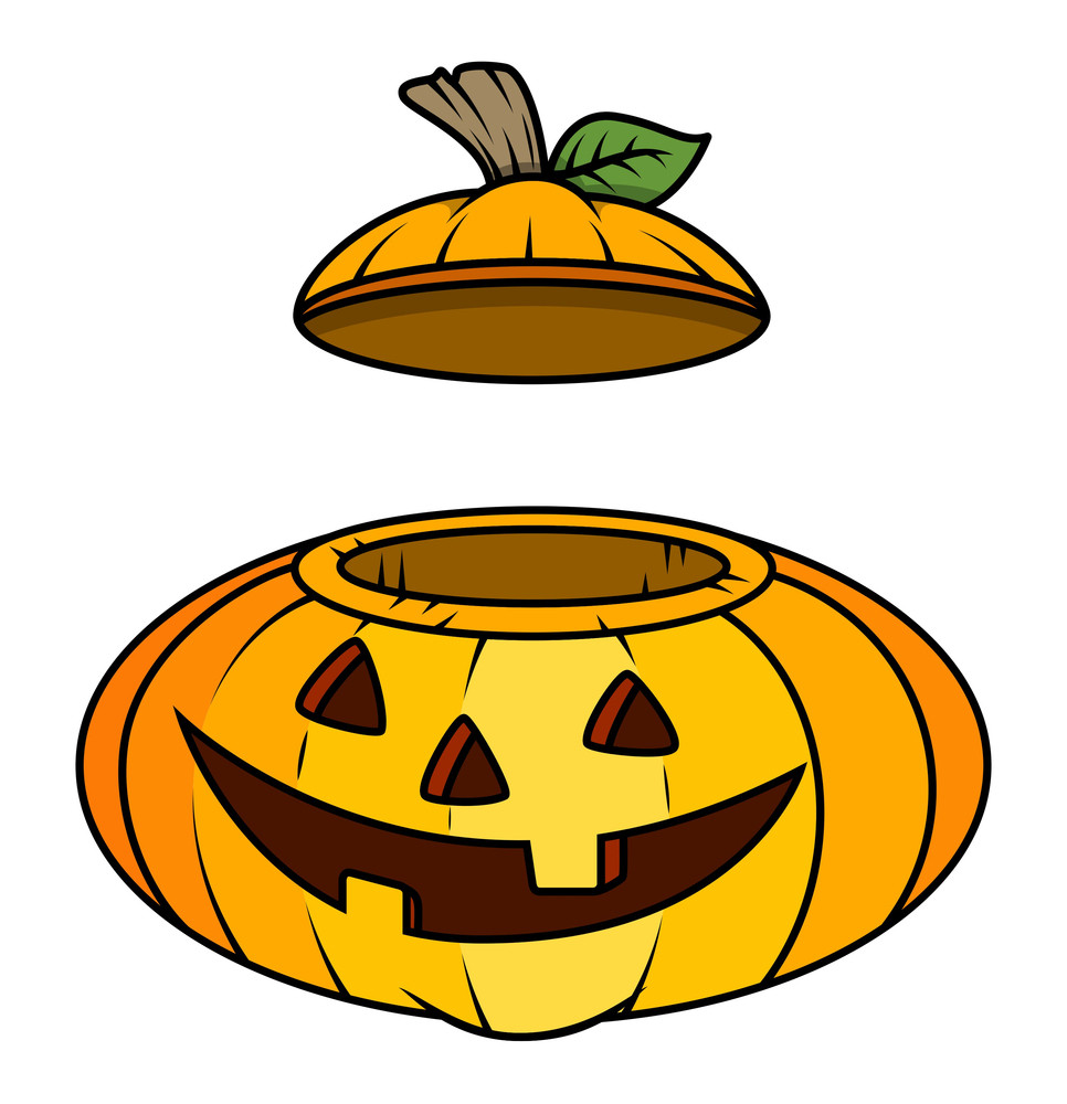 Jack O Lantern Container - Halloween Vector Illustration