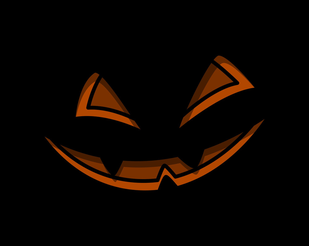 Jack-o-lantern Spooky Smile - Halloween Vector Illustration