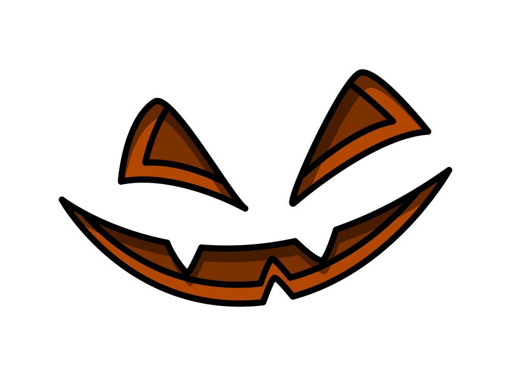 Jack O' Lantern Spooky Smile - Halloween Vector Illustration