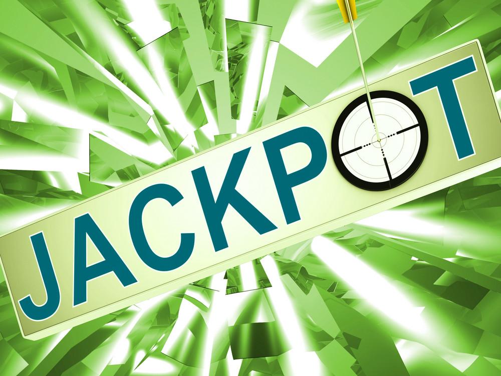 Jackpot Shows Lucky Winner Gambling In Vegas