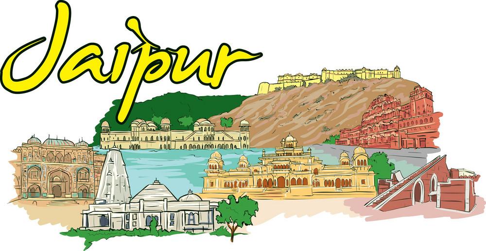 Jaipur Vector Doodle