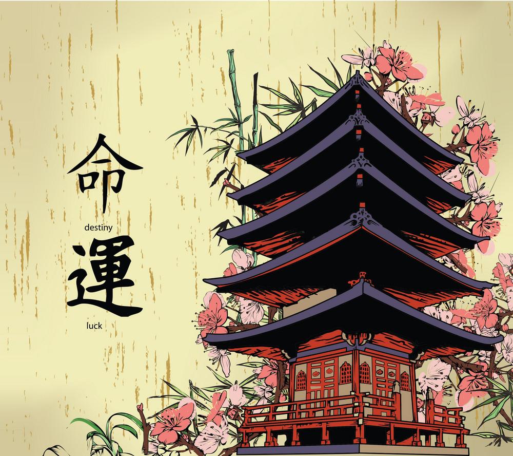 Japanese Background Vector Illustration