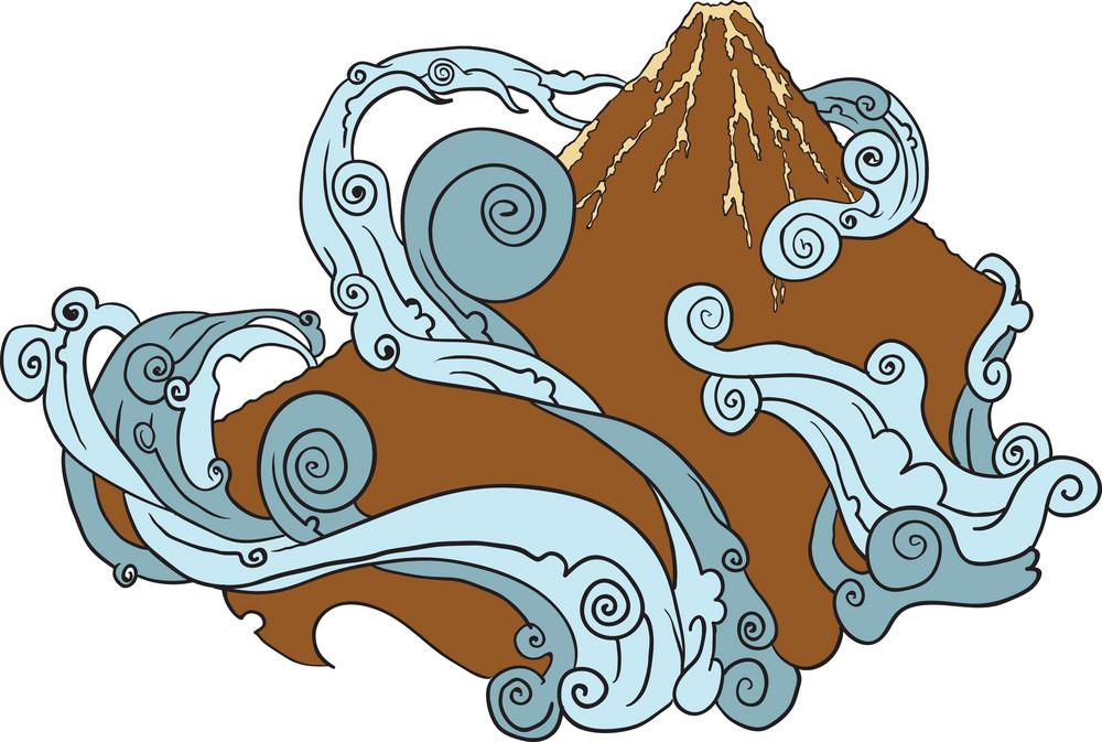 Japanese Vector Mountain