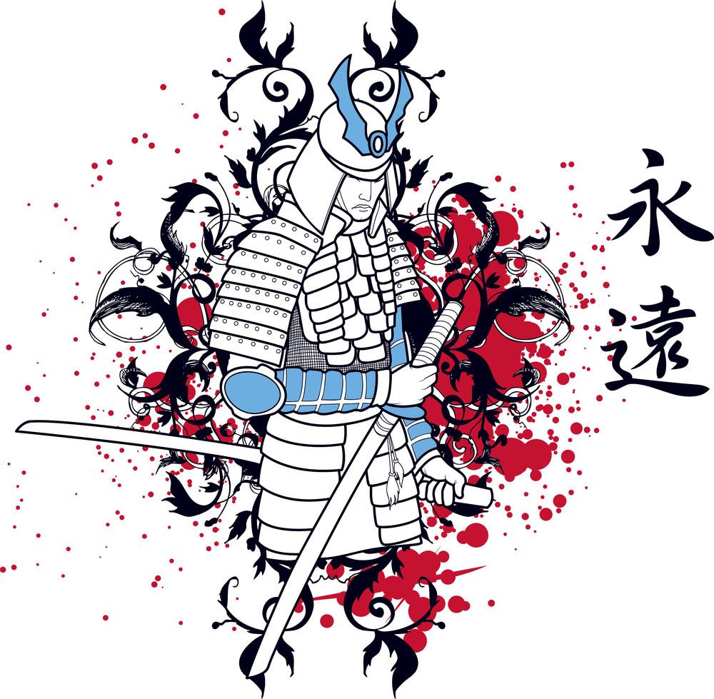 Japanese Vector T-shirt Design