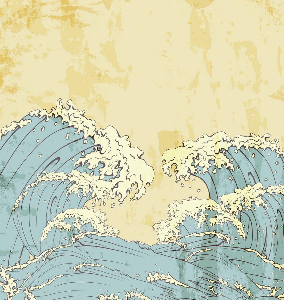 Japanese Waves Vector Illustration