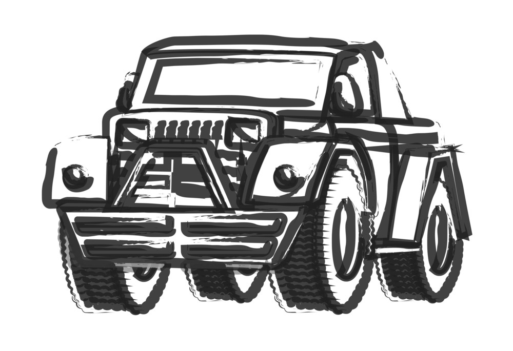 Jeep Painting Vector