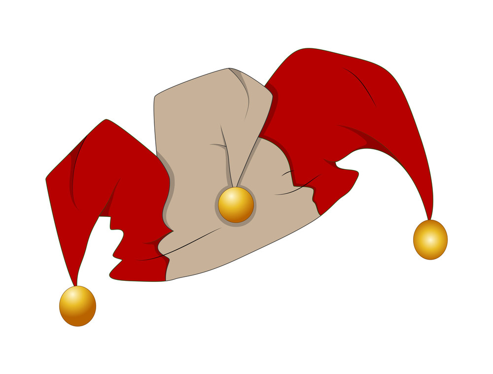 Jester Cartoon Cap Vector