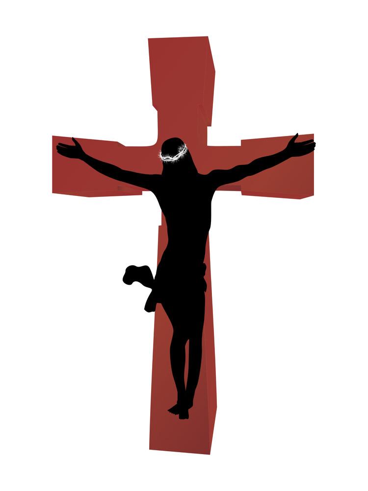 Jesus Christ On Wooden Cross