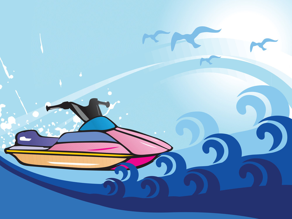 Jet Ski Vector Illustration
