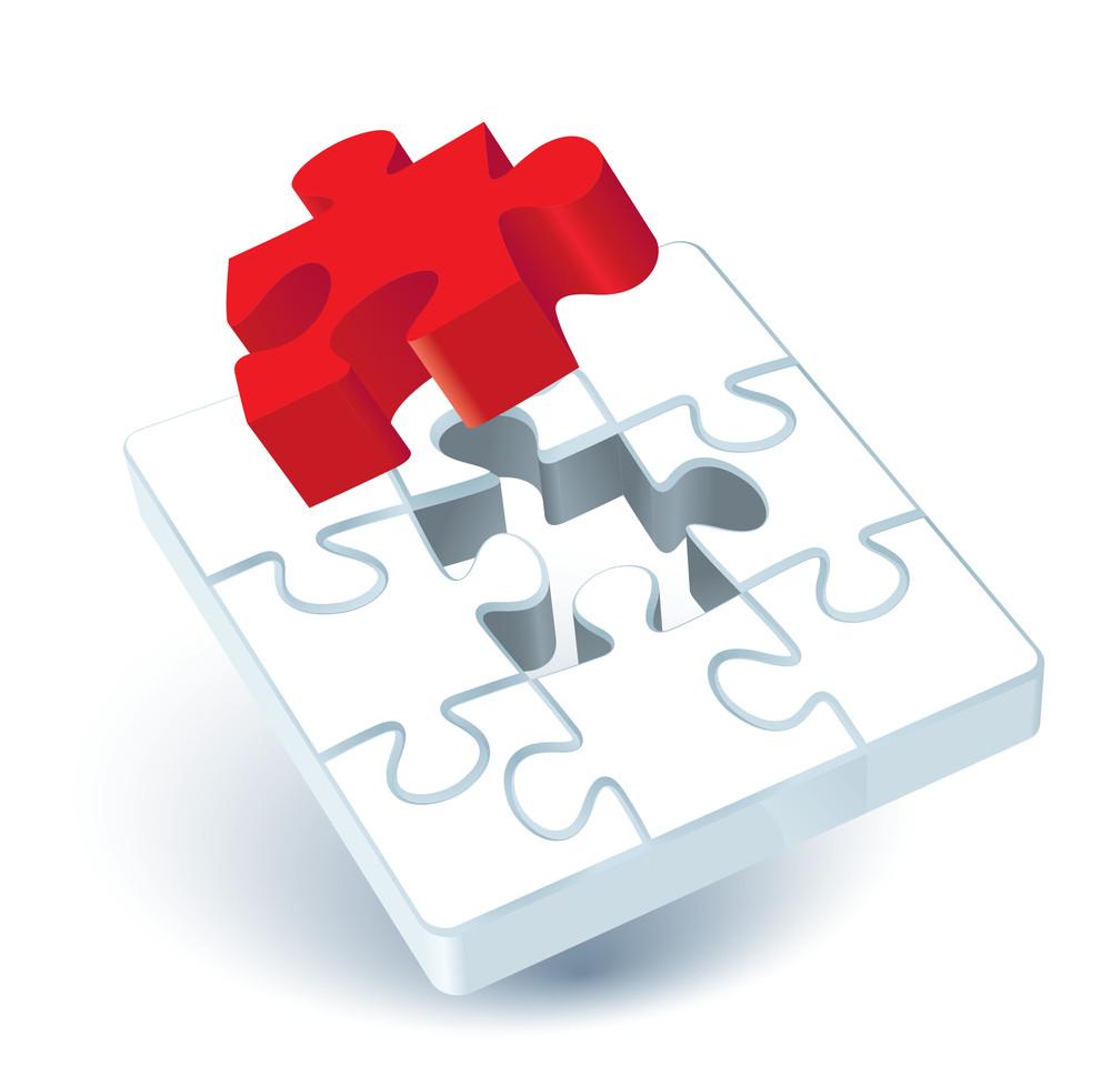 Jigsaw Puzzle. Vector.