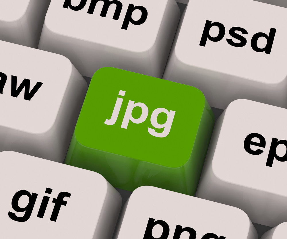Jpg Key Shows Image Format For Internet Pictures