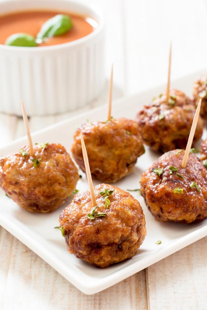 Juicy Meatballs On Plate
