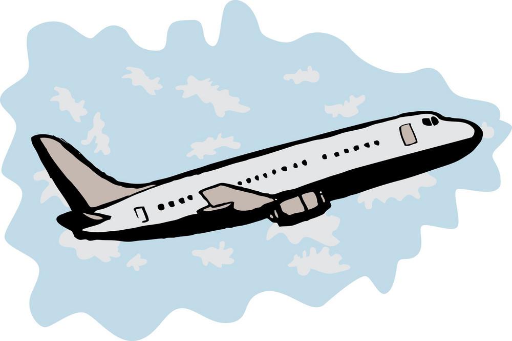 Jumbo Jet Airplane Taking Off
