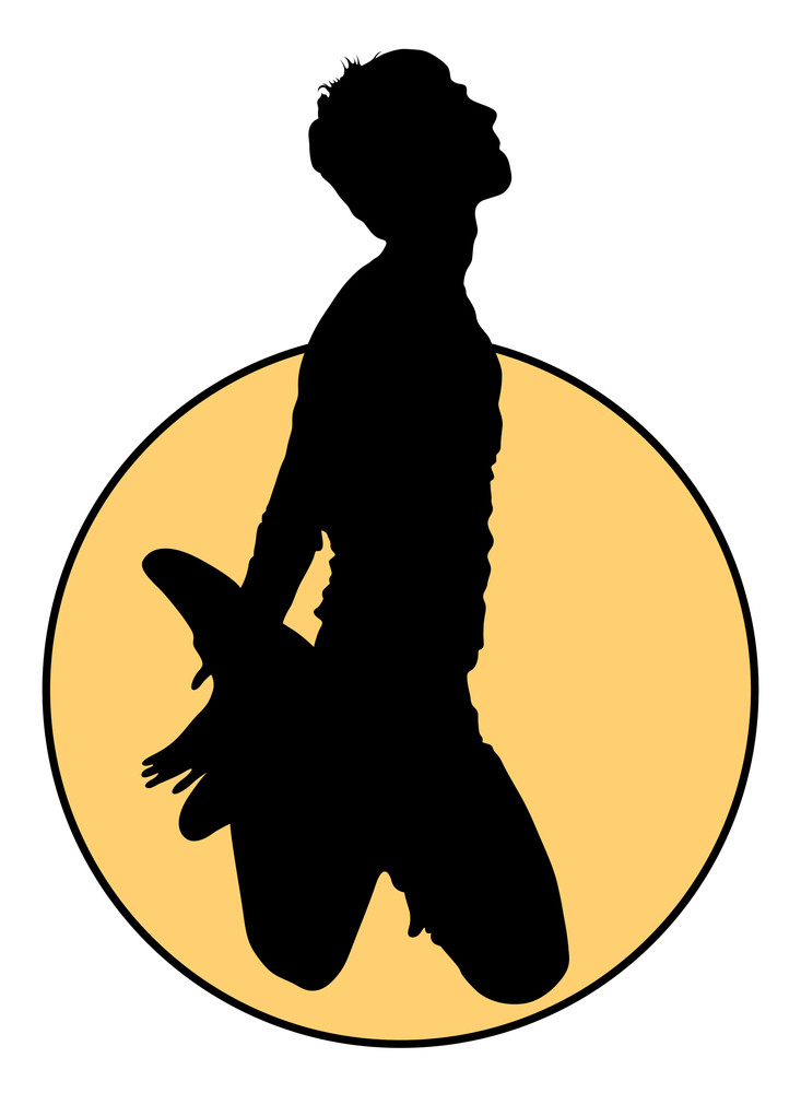 Jumping Man Silhouette