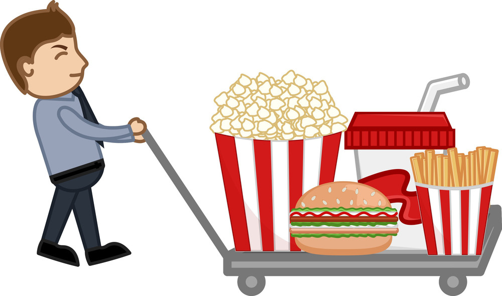 Junk Food  - Cartoon Business Vector Character