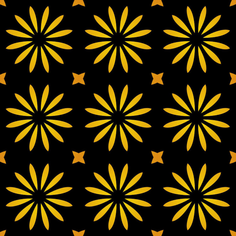 Kaleidoscopic Flowers Pattern